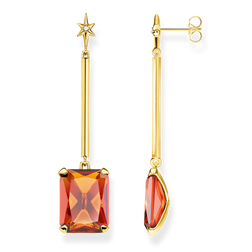 earrings Orange stone with star from the Glam & Soul collection in the THOMAS SABO online store