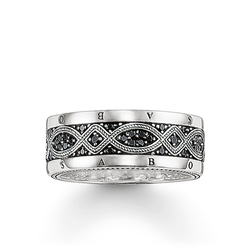 "band ring ""Love Knot"" from the Rebel at heart collection in the THOMAS SABO online store"