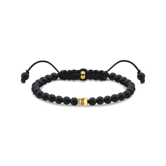Bracelet black skull gold from the  collection in the THOMAS SABO online store