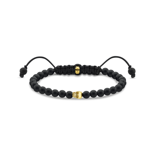 Bracelet black skull gold from the Rebel at heart collection in the THOMAS SABO online store