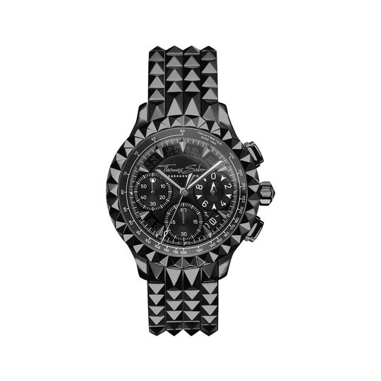 men's watch Rebel at Heart Chronograph black from the  collection in the THOMAS SABO online store