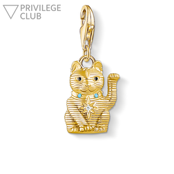 Charm pendant wink cat from the Charm Club Collection collection in the THOMAS SABO online store