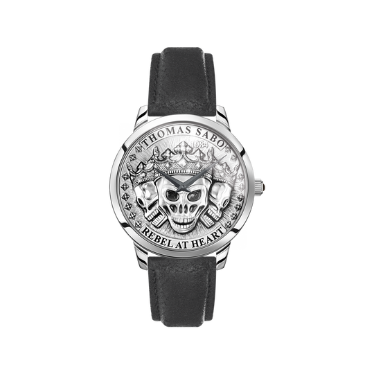 men's watch Rebel Spirit 3D skulls, silver from the  collection in the THOMAS SABO online store