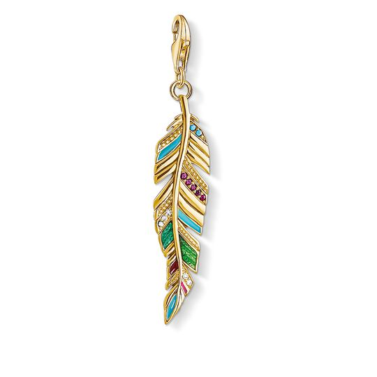 Charm pendant Ethnic Feather from the  collection in the THOMAS SABO online store