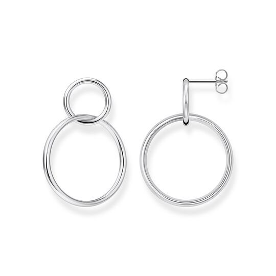 Earrings circles silver from the  collection in the THOMAS SABO online store