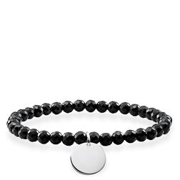 "bracelet ""black disc"" from the Love Bridge collection in the THOMAS SABO online store"