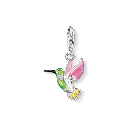 Charm pendant colourful hummingbird from the Charm Club collection in the THOMAS SABO online store
