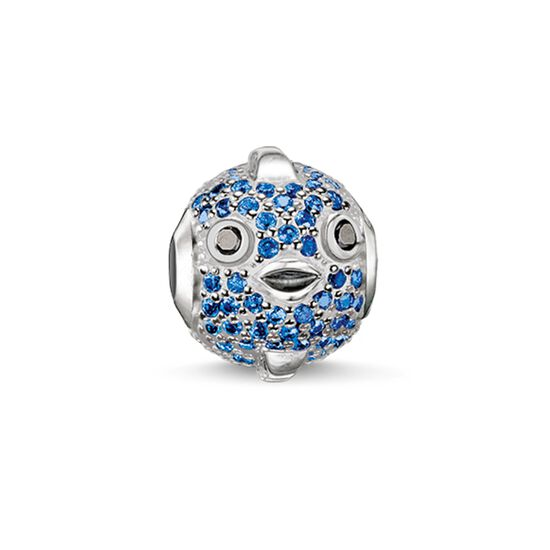 "Bead ""poisson-globe fugu bleu"" de la collection Karma Beads dans la boutique en ligne de THOMAS SABO"