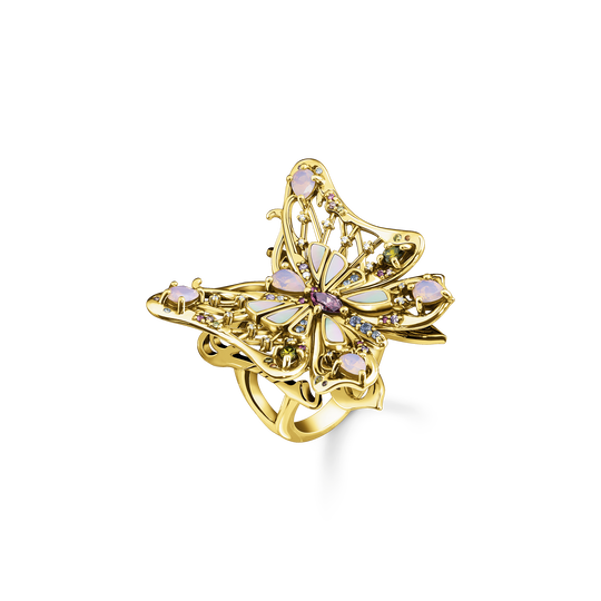 Ring butterfly colourful stones gold from the Glam & Soul collection in the THOMAS SABO online store