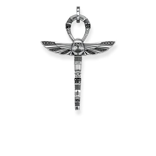 """pendant """"cross of life ankh with scarab"""" from the Rebel at heart collection in the THOMAS SABO online store"""