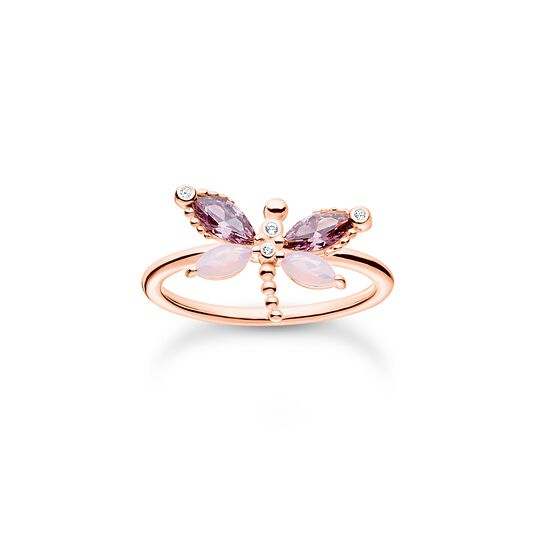 Ring dragonfly with stones rose gold from the Charming Collection collection in the THOMAS SABO online store