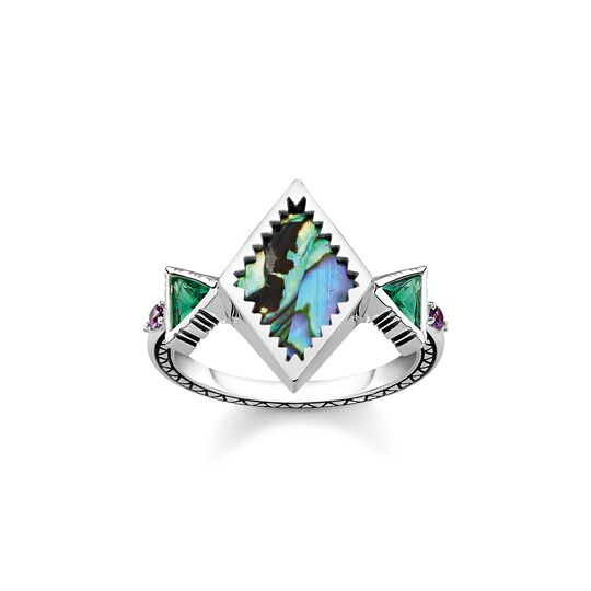 Ring zig zag mother of pearl abalone from the  collection in the THOMAS SABO online store