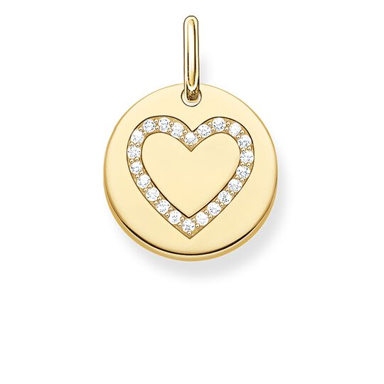 """pendant """"heart disc"""" from the Love Bridge collection in the THOMAS SABO online store"""