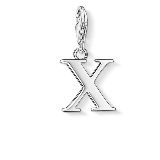 Charm pendant letter X from the  collection in the THOMAS SABO online store