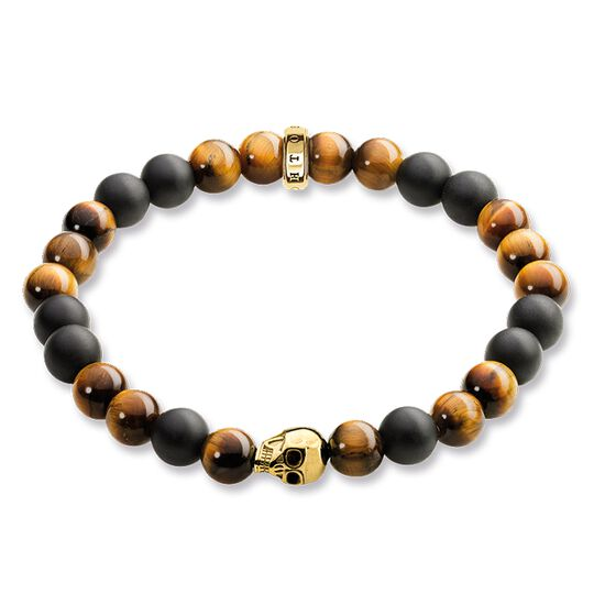 "bracelet ""brown skull"" from the Rebel at heart collection in the THOMAS SABO online store"