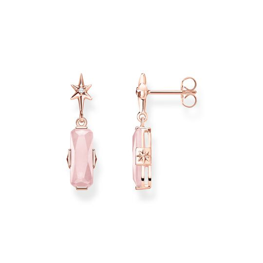 ear studs pink stone with star from the  collection in the THOMAS SABO online store