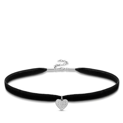 """Choker """"heart pavé"""" from the Glam & Soul collection in the THOMAS SABO online store"""