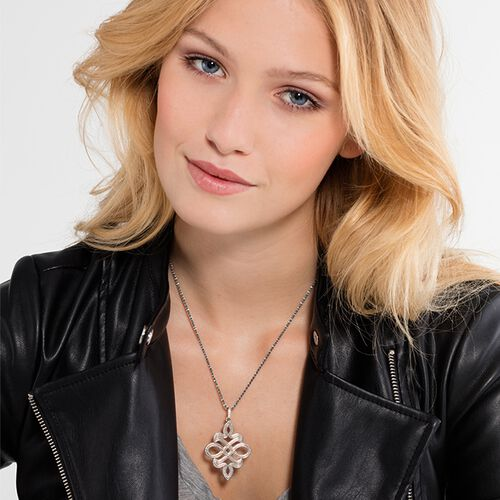 "pendant ""Love Knot"" from the Rebel at heart collection in the THOMAS SABO online store"