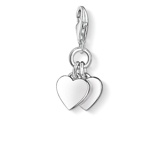 Charm pendant two hearts from the Charm Club collection in the THOMAS SABO online store