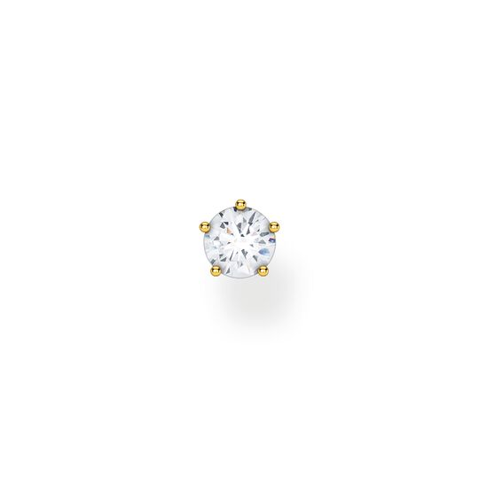 Single ear stud white stone gold from the Charming Collection collection in the THOMAS SABO online store