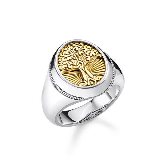 ring Tree of Love gold from the Rebel at heart collection in the THOMAS SABO online store