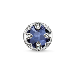 Bead dark-blue lotus from the Karma Beads collection in the THOMAS SABO online store