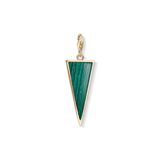 Charm pendant Green triangle from the Charm Club collection in the THOMAS SABO online store