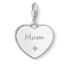Charm pendant Heart mum silver from the Charm Club Collection collection in the THOMAS SABO online store