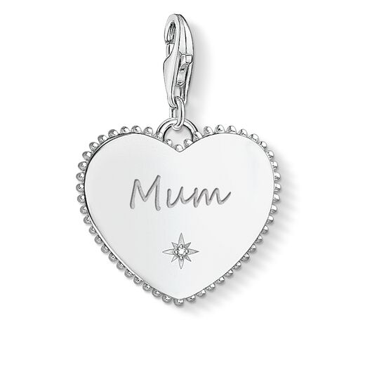 Charm pendant Heart mum silver from the  collection in the THOMAS SABO online store