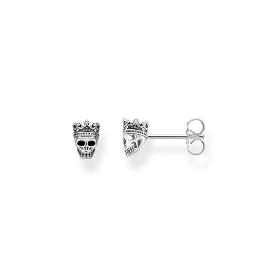 ear studs Skull King from the Rebel at heart collection in the THOMAS SABO online store
