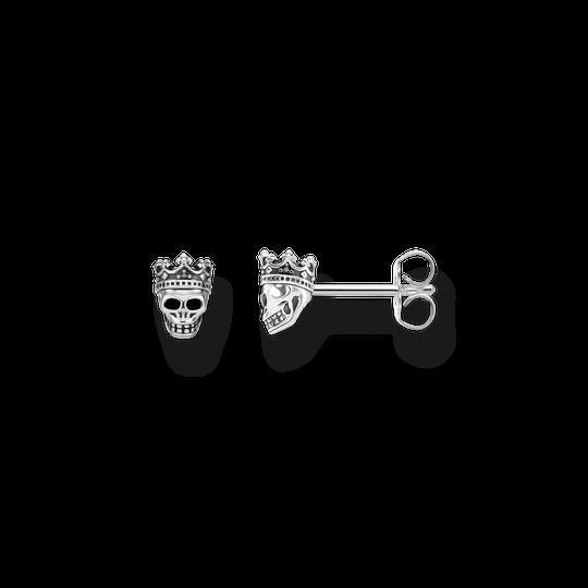 clous d'oreilles Tête de mort roi de la collection Rebel at heart dans la boutique en ligne de THOMAS SABO