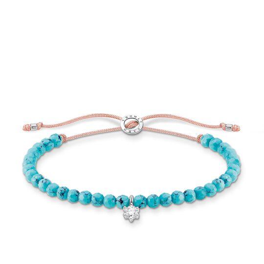 Armband türkise Perlen mit weißem Stein aus der Charming Collection Kollektion im Online Shop von THOMAS SABO