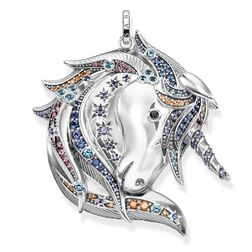 """pendant """"Royalty Unicorn silver"""" from the Glam & Soul collection in the THOMAS SABO online store"""