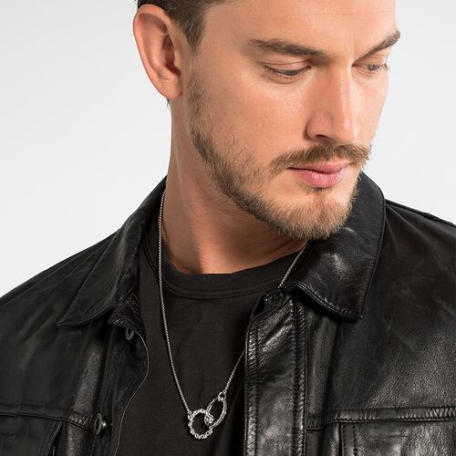 "Collier ""Totenkopf Love, Faith, Hope""  aus der Rebel at heart Kollektion im Online Shop von THOMAS SABO"
