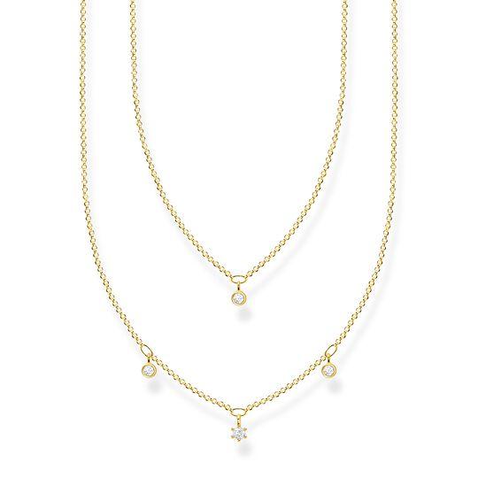 Chaîne double pierres blanches or de la collection Charming Collection dans la boutique en ligne de THOMAS SABO