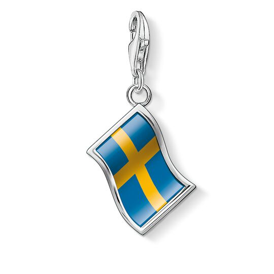 ciondolo Charm bandiera Svezia from the  collection in the THOMAS SABO online store