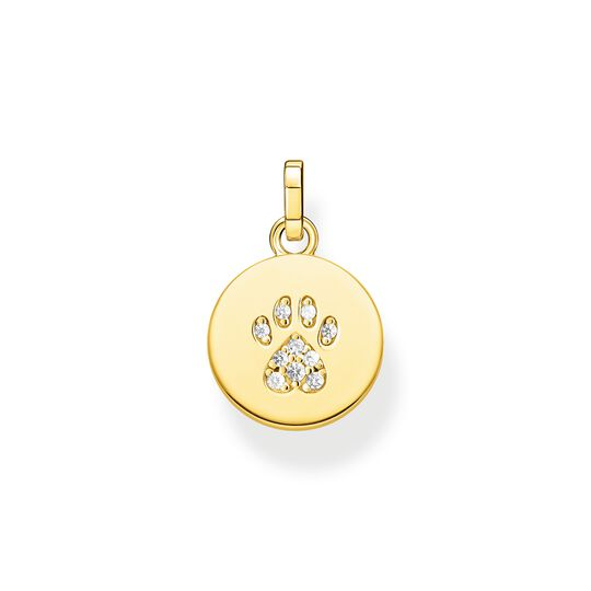 pendant disc paw cat gold from the  collection in the THOMAS SABO online store