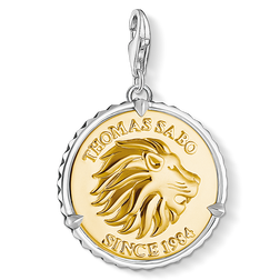 Charm pendant disc lion from the  collection in the THOMAS SABO online store