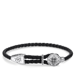 leather strap compass from the Rebel at heart collection in the THOMAS SABO online store