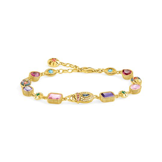 Bracelet large lucky Charms, gold from the  collection in the THOMAS SABO online store