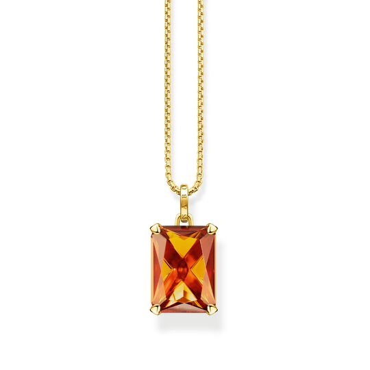 Necklace orange stone from the  collection in the THOMAS SABO online store