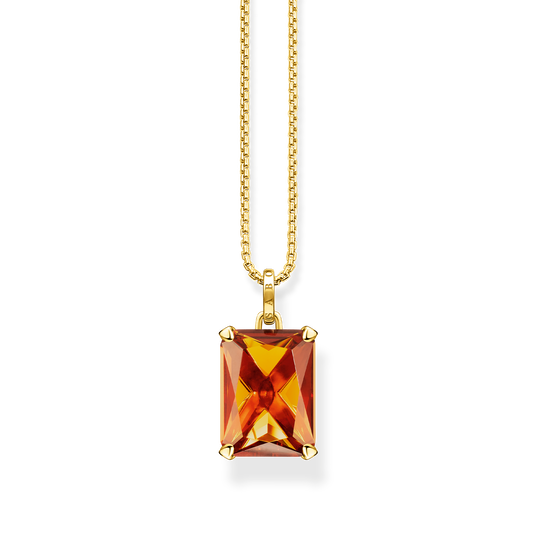 Necklace orange stone from the Glam & Soul collection in the THOMAS SABO online store