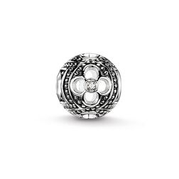"Bead ""black icy diamond flower"" from the Karma Beads collection in the THOMAS SABO online store"