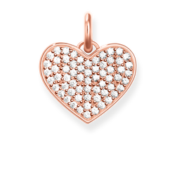 "pendant ""heart pavé"" from the Love Bridge collection in the THOMAS SABO online store"