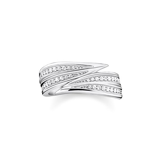 ring leaves silver from the  collection in the THOMAS SABO online store