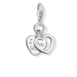 Charm pendant I LOVE YOU hearts from the Charm Club Collection collection in the THOMAS SABO online store