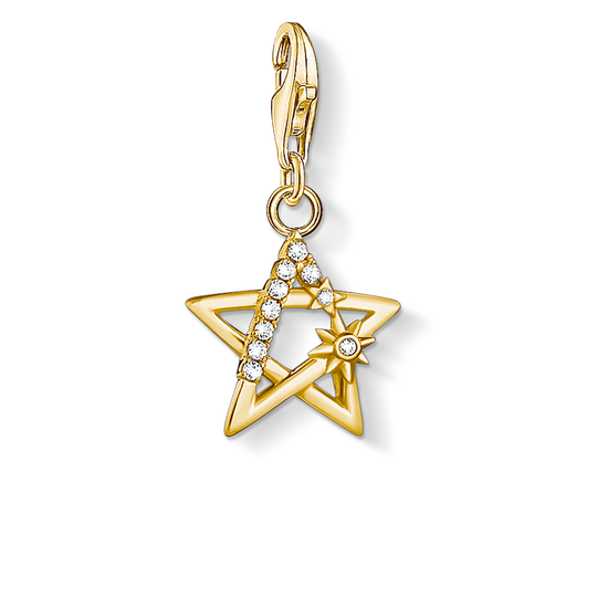 Charm pendant star stones gold from the Charm Club collection in the THOMAS SABO online store