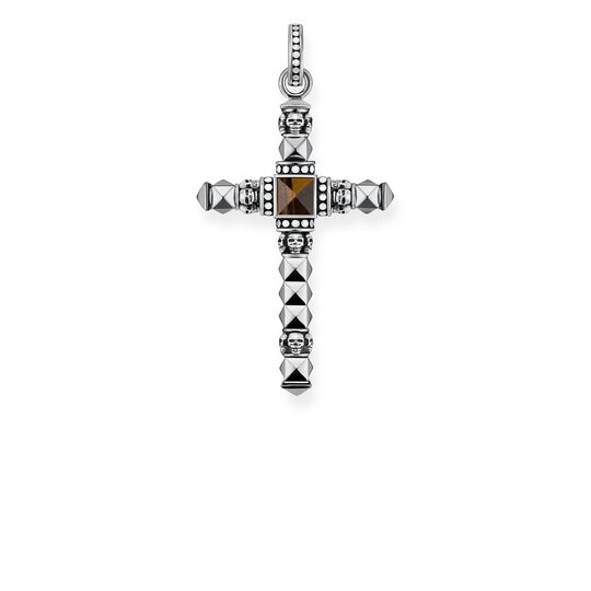 pendant brown ethno cross small from the Rebel at heart collection in the THOMAS SABO online store
