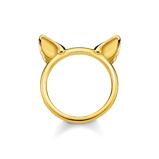 ring Cat's ears, gold from the Glam & Soul collection in the THOMAS SABO online store