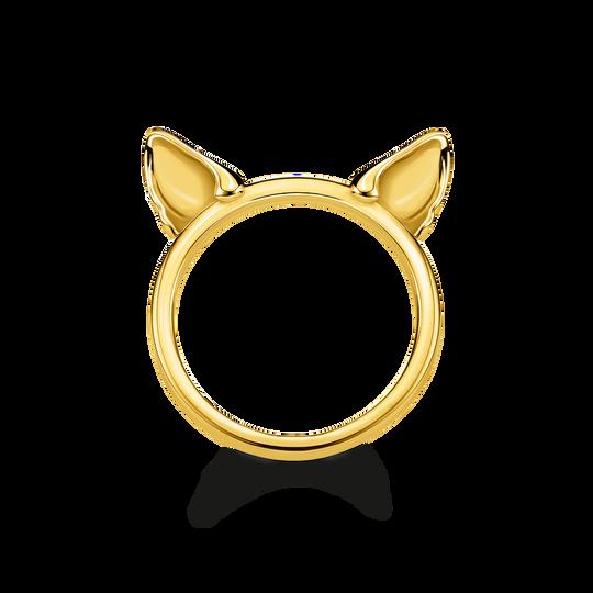 Ring Katzenohren gold aus der Glam & Soul Kollektion im Online Shop von THOMAS SABO